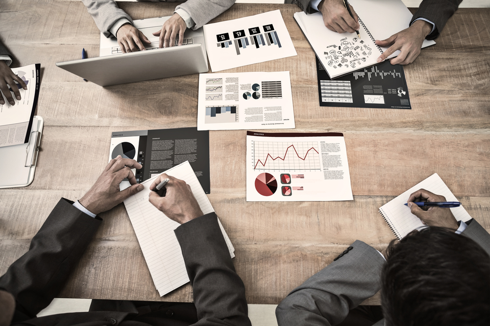Brainstorm against business interface with graphs and data-3
