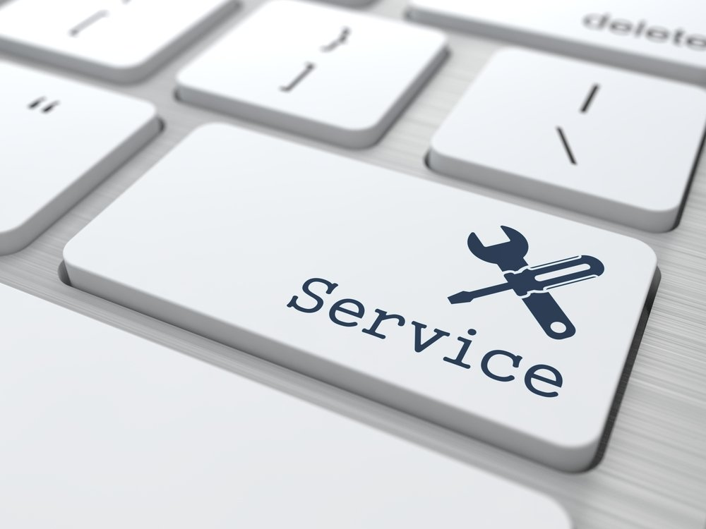 Customer Service Concept. Button on Modern Computer Keyboard.