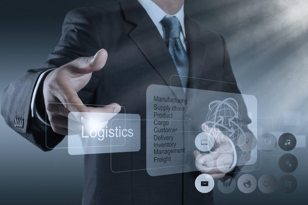 businessman hand shows logistics diagram as concept-2