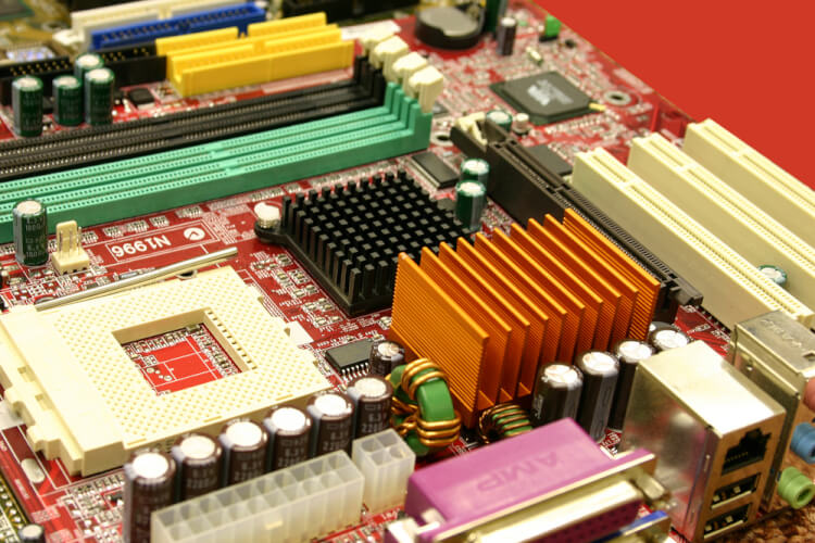 Circuits from a mother board