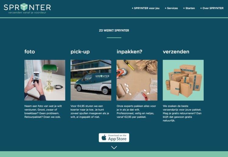 """荷物を""""撮る""""だけで届けてくれるオランダの宅配サービス「Sprynter」--梱包・郵送が不要"""