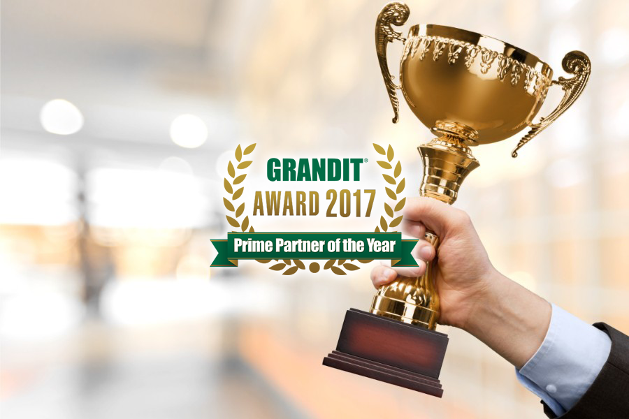 GRANDIT AWARD 2017 Prime Partner of the Year受賞