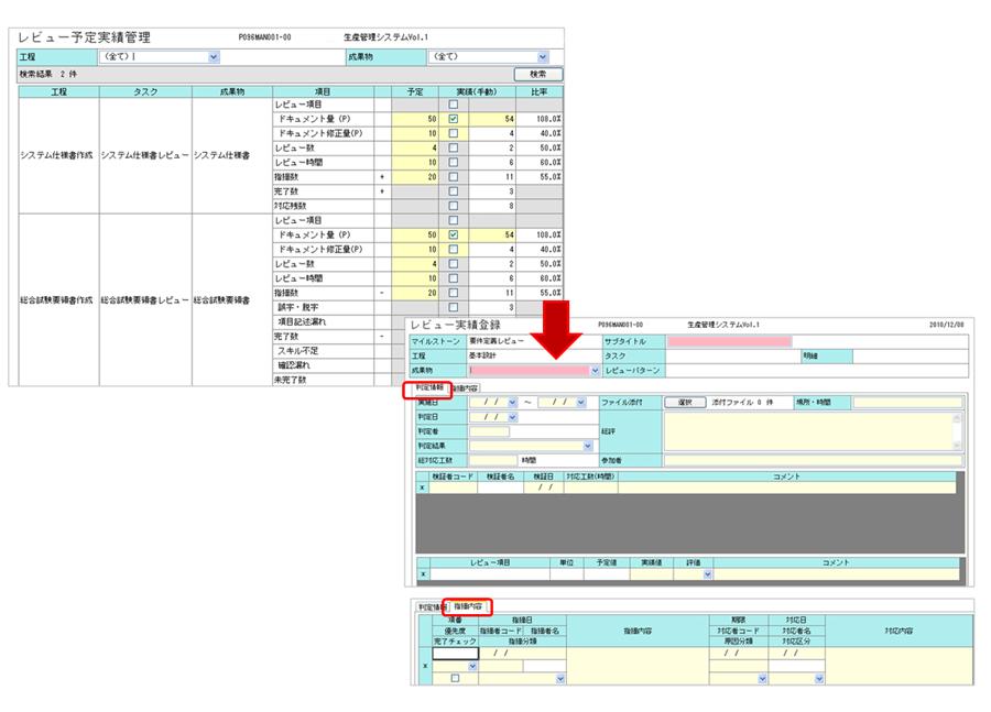 品質管理強化:レビュー管理画面